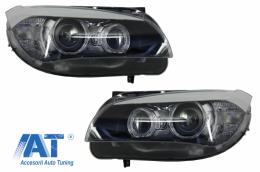 Faruri LED Angel Eyes compatibil cu BMW X1 E84 (2009-2012) Xenon Look - HLBME84