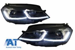 Faruri LED compatibil cu VW Golf 7 VII (2012-2017) Facelift G7.5 R Line Look cu Semnal Dinamic