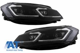 Faruri LED compatibil cu VW Golf 7.5 VII Facelift (2017-up) cu Semnal Dinamic