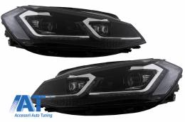 Faruri LED compatibil cu VW Golf 7.5 VII Facelift (2017-up) cu Semnal Dinamic RHD - HLVWG7F75SRHD