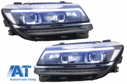 Faruri LED compatibil cu VW Tiguan II Mk2 (2016-up) R-Line Matrix Design Semnal Dinamic - HLVWTII