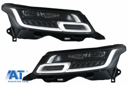 Faruri LED compatibile cu Rover Range Sport L494 (2013-2017) cu Semnal Dinamic Conversie la 2018-up Matrix Look - HLRRSL494FL