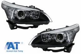Faruri LED Dayline & Angel Eyes compatibil cu BMW Seria 5  E60 E61 (2003-2007) LCI Design - HLBME60