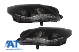Faruri LED DAYLINE compatibil cu VW Passat CC (2008-2012) DRL Look Negru - SWV38DGXB