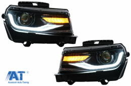 Faruri LED DRL compatibil cu Chevrolet Camaro (2014-2015) cu Semnal Dinamic Conversie la 2016 - HLCHECAMARO