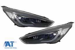 Faruri LED DRL compatibil cu FORD Focus III Mk3 Facelift RHD (2015-2017) Bi-Xenon Design Semnalizare Dinamica - HLFFMK3RHD