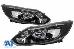 Faruri LED DRL compatibil cu FORD Focus III (2011-2014) Negru - HLFFIII