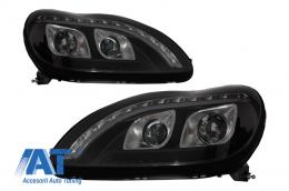 Faruri LED DRL compatibil cu MERCEDES Benz W220 S Class 1998-2005 Negru