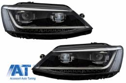 Faruri LED DRL compatibil cu VW Jetta Mk6 VI Non GLI (2011-2017) Semnal Dinamic Secvential Xenon Matrix Design