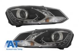 Faruri LED DRL Lumini de zi Optic Dayline compatibil cu VW Polo 6R Negre