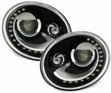 Faruri LED DRL Volkswagen compatibil cu VW Beetle (2013-up) Negru-