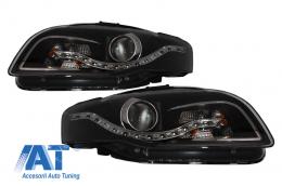 Faruri LED DRL Xenon Look compatibil cu AUDI A4 B7 (2004-2008) Negru - SWA08EGXB/LPAUA6
