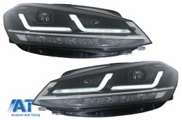 Faruri LEDriving Osram Full LED compatibil cu VW Golf 7.5 VII Facelift (2017-2020) pentru halogen cu Semnal Dinamic - LEDHL109-BK