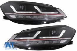 Faruri LEDriving Osram Full LED compatibil cu VW Golf 7.5 VII Facelift (2017-2020) GTI pentru halogen cu Semnal Dinamic - LEDHL109-GTI