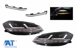 Faruri LEDriving Osram Full LED cu Indicator pentru Oglinda compatibil cu VW Golf 7.5 VII Facelift (2017-2020) GTI pentru halogen cu Semnal Dinamic - COLEDHL109GTIMIWT
