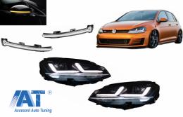 Faruri LEDriving Osram Full LED si Indicator Dinamic Full LED pentru Oglinda compatibil cu VW Golf 7 VII (2012-2017) Crom pentru Faruri Xenon si Pozitie Halogen - COLEDDMI5G0WTCM