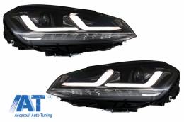 Faruri LEDriving Osram Full LED VW Golf 7 VII (2012-2017) Negru compatibil cu Faruri Xenon si Pozitie Halogen - LEDHL104-BK