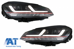 Faruri LEDriving Osram Full LED VW Golf 7 VII (2012-2017) Rosu GTI compatibil cu Faruri Xenon si Pozitie Halogen - LEDHL104-GTI