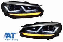Faruri Osram LED compatibil cu VW Golf 6 VI (2008-2012) Crom LEDriving Semnal Dinamic - LEDHL102-CM
