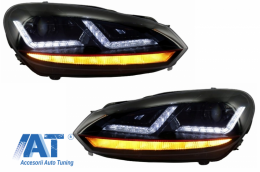 Faruri Osram LED compatibil cu VW Golf 6 VI (2008-2012) GTI Rosu LEDriving Semnal Dinamic - LEDHL102-GTI