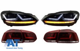 Faruri Osram LED compatibil cu VW Golf 6 VI (2008-2012) cu Stopuri LEDriving Semnal Dinamic - COLEDTL102GTI