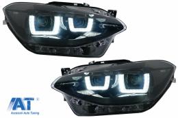 Faruri Osram LED DRL compatibil cu BMW 1 Series F20 F21 (06.2011-03.2015) Negru - LEDHL108-BK
