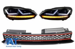 Faruri Osram LED Rosu LEDriving Semnal Dinamic Grila Centrala compatibil cu VW Golf 6 VI (2008-2012) GTI Design - COLEDHL102GTI