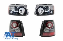 Faruri si Stopuri LED compatibile cu Range Rover Sport L320 (2009-2013) Facelift Design - COHLRRSFOE320F