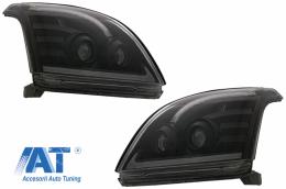 Faruri TUBE LIGHT LED compatibil cu TOYOTA Land Cruiser FJ120 (2003-2009) Negru cu Semnal Dinamic LHD - HLTOLCB/LPTO38
