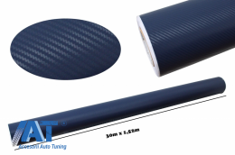 Folie auto carbon 3d texturata - colant auto 1,52 / (30m) - Fol3DW2Blue