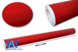 Folie auto carbon 3d texturata - colant auto 1,52 / (30m) - Fol3DW2Red