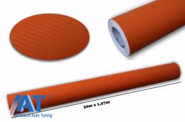 Folie auto carbon 3d texturata portocaliu - colant auto 1.27 / (30M) - CF328/Orange