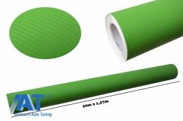Folie auto carbon 3d texturata verde - colant auto 1.27 / (30M) - CF329/Green