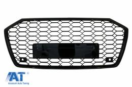 Grila Bara Fata compatibil cu Audi A6 C8 4K (2018-up) RS6 Design Negru Lucios - FGAUA64KRS