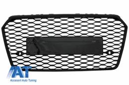 Grila Bara Fata compatibil cu AUDI A7 4G Facelift (2015-2018) RS7 Design Negru Lucios - FGAUA74GFRS