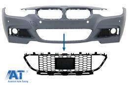 Grila central inferioara compatibila cu BMW 3 Series F30 F31 M-Tech (2011-2019) cu distronic - FBGBMF30MTD