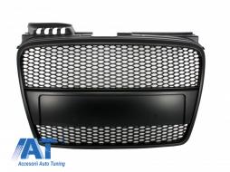 Grila Centrala Audi A4 (B7) Facelift (2004-2008) RS4 All Black Design - FGAUA4B7RSBB