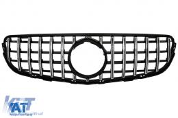 Grila Centrala Black compatibil cu MERCEDES GLC X253 C253 2015-2018 GT R Panamericana Design Fara Camera - FGMBX253GTRCWOH