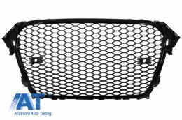 Grila Centrala compatibil cu AUDI A4 B8 Facelift (2012-2015) RS Design Negru Lucios - FGAUA4B8FRSB