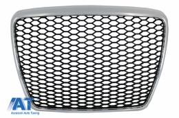 Grila Centrala compatibil cu Audi A6 4F 4F2 C6 (2004-2011) RS Design Crom - FGAUA64F2RSC