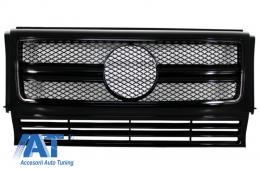 Grila Centrala compatibil cu MERCEDES Benz W463 G-Class (1990-2012) 2012 G65 G63 AMG Look Piano Black Edition - FGMBW463AMGAB