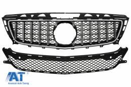 Grila Centrala compatibil cu Mercedes CLS W218 (2012-2014) GT-R Panamericana Design Crom - FGMBW218NGTRCN