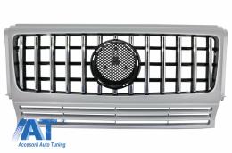 Grila Centrala compatibil cu MERCEDES G-Class W463 (1990-2014) G63 GT-R Panamericana Design Argintiu - FGMBW463GTRC