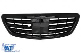 Grila Centrala compatibil cu MERCEDES W222 S-Class 2014+ S63 S65 Design Negru Lucios - FGMBW222AMGPB