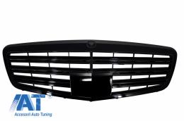 Grila Centrala Facelift compatibil cu MERCEDES W221 S-Class 2011-2013 S63 S65 Piano Black Design