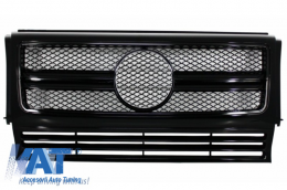 Grila Centrala Mercedes Benz W463 G-Class (1990-2012) 2012 G65 G63 AMG Look Piano Black Edition - FGMBW463AMGBB