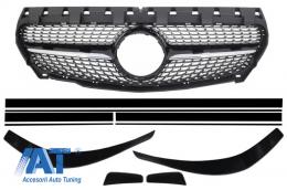 Grila Centrala Mercedes CLA C117 X117 W117 (2013-2016) AMG Diamond Design Prelungiri Bara Fata si Stickere