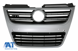 Grila centrala Volkswagen Passat 3C 2007-2010 R36 Design Aluminiu look