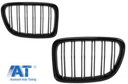 Grile Centrale compatibil cu BMW X1 E84 (2009-2014) Negru Lucios Double Stripe Design - FGBME84DPB