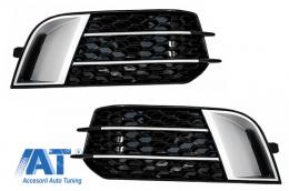 Grile Laterale compatibil cu AUDI A1 (8X) (2010-up) RS1 Negre - SGAUA18XRS